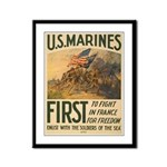 First to Fight in France Framed Panel Print