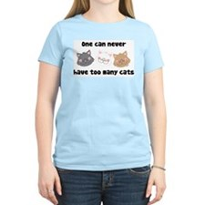 Never Too Many Cats Women's Pink T-Shirt