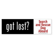 """Got Lost?"" Bumper Bumper Sticker"