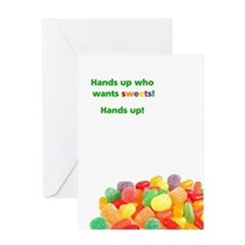 Card: Hands up for sweets
