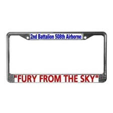 2nd Bn 508th ABN License Plate Frame