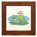 Frogs in Love Framed Tile