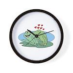 Frogs in Love Wall Clock