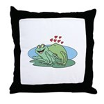 Frogs in Love Throw Pillow