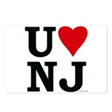 """U LOVE NJ""  Postcards (Package of 8)"