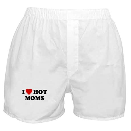 I Love [Heart] Hot Moms Boxer Shorts