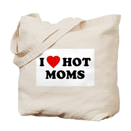 I Love [Heart] Hot Moms Tote Bag
