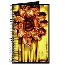 Abstract Art Copper Flower on Gold Journal