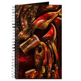Key Chain Abstract Art Red Rust Journal