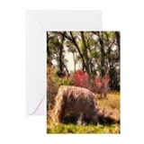 Country Harvest Hay Bale Farm Land Greeting Card