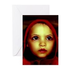 Little Red Riding Hood Art Photo Greeting Card
