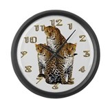 Leopard Large Wall Clock