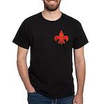 Fleur De Lis W/S&C Black T-Shirt