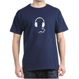 Head Phones Black T-Shirt