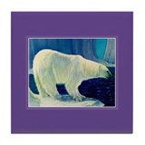 Polar Bear / Alaska Blue Tile Coaster