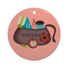 Cute Book Lover Handbag Christmas Ornament
