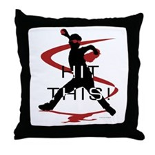 Funny Batter Throw Pillow