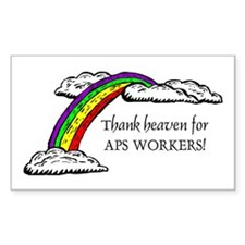 Thank Heaven APS Rectangle Decal