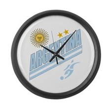 Argentina world cup soccer Large Wall Clock