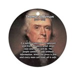 Safety Freedom President Jefferson Ornament (Round