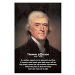 Safety Freedom President Jefferson Large Poster