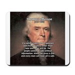 Safety Freedom President Jefferson Mousepad