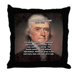 Safety Freedom President Jefferson Throw Pillow
