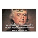 Safety Freedom President Jefferson Postcards (Pack