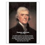 Safety Freedom President Jefferson Small Poster