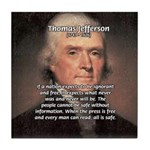 Safety Freedom President Jefferson Tile Coaster