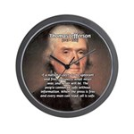 Safety Freedom President Jefferson Wall Clock