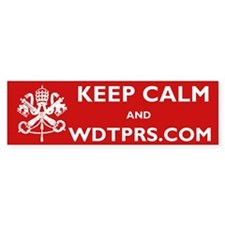 KEEP CALM WDTPRS.COM Bumper Sticker