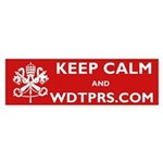 KEEP CALM WDTPRS.COM Sticker (Bumper)