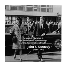 JFK Knowledge Education Tile Coaster
