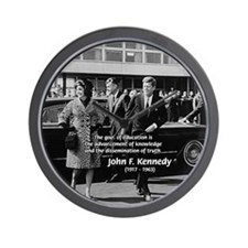 JFK Knowledge Education Wall Clock