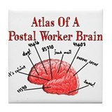 Postal Worker III Tile Coaster