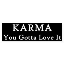 Karma Earl Bumper Car Sticker