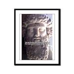 Greek Philosophy Plato Framed Panel Print