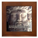 Greek Philosophy Plato Framed Tile