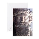 Greek Philosophy Plato Greeting Cards (Package of