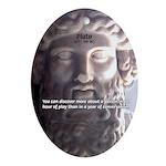 Greek Philosophy Plato Oval Ornament