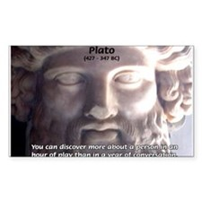 Greek Philosophy Plato Rectangle Decal