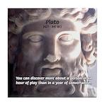 Greek Philosophy Plato Tile Coaster