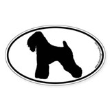 Wheaten Terrier SILHOUETTE Oval Decal