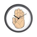 Hand - Stop Sign Wall Clock