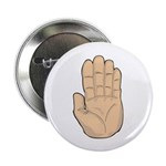 """Hand - Stop Sign 2.25"""" Button (10 pack)"""