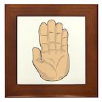 Hand - Stop Sign Framed Tile