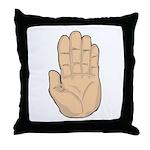 Hand - Stop Sign Throw Pillow