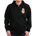 Hand - Stop Sign Zip Hoodie (dark)