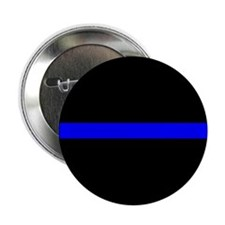 "Police Thin Blue Line 2.25"" Button"